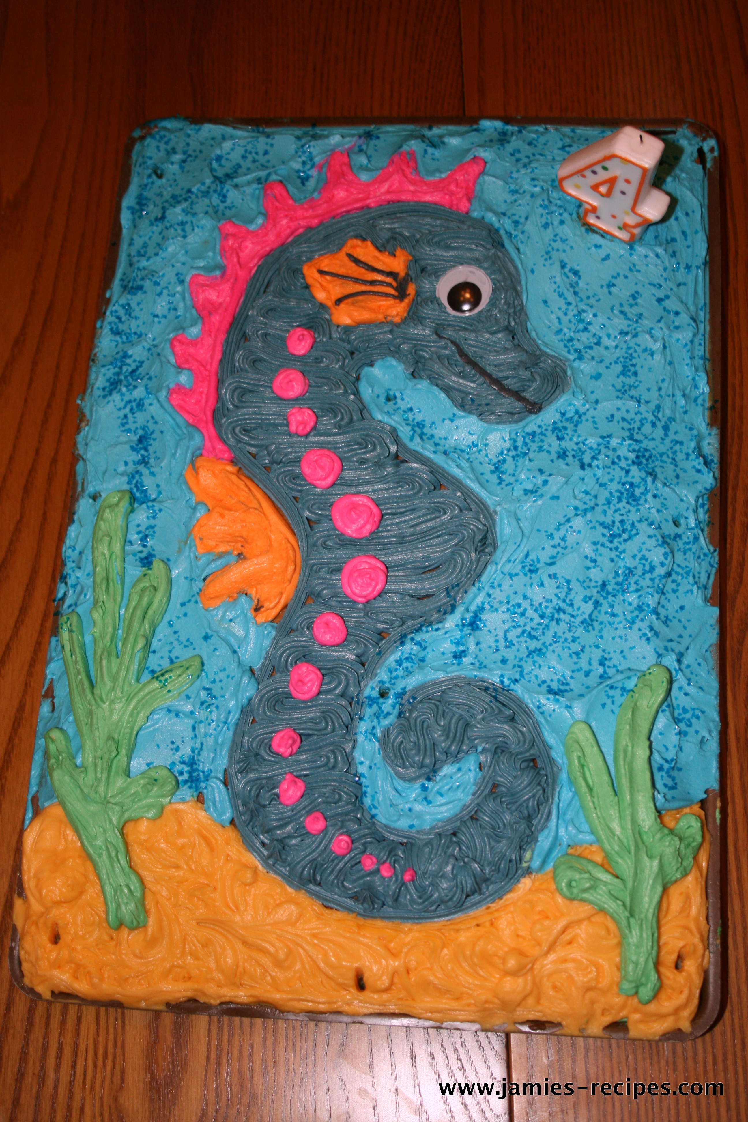 Let'sFind Dory Collaboration - Sheldon the Seahorse - cake by ...