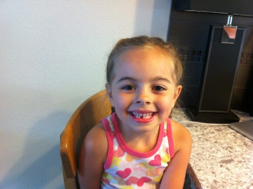 Penelope lost her first tooth while in Boulder!