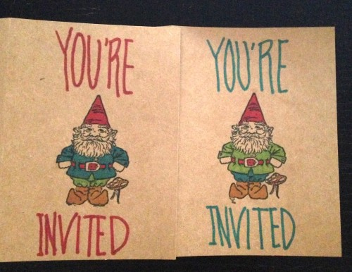 Gnome Invitations | Jamie's Recipes