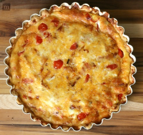 Bacon and Tomato Quiche via Jamie's Recipes