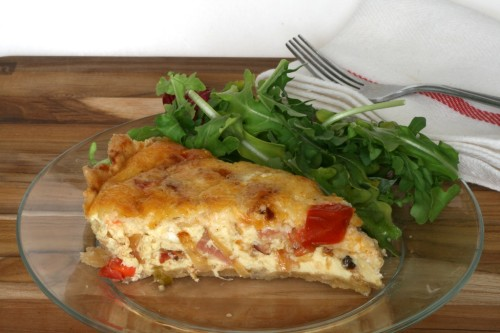 Bacon and Tomato Quiche