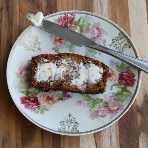 Browned Butter Cinnamon Chip Banana Bread