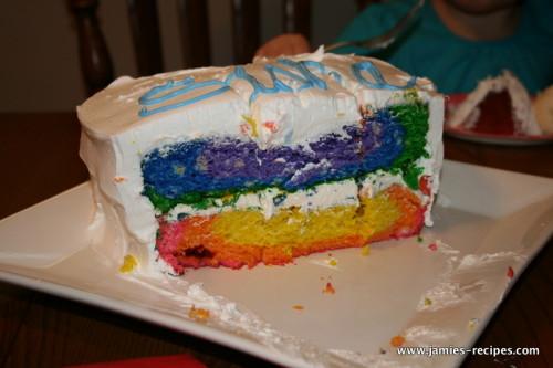 Low Fat Rainbow Cake