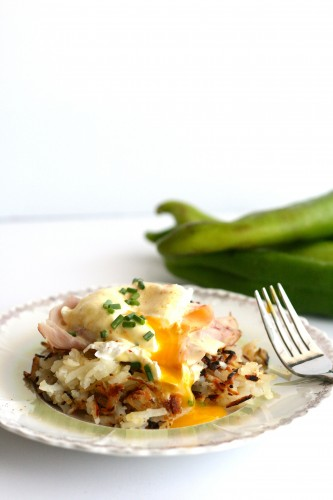 Hatch Chile Hashbrowns Benedict