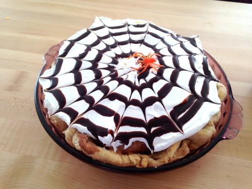Spooky French Silk Pie