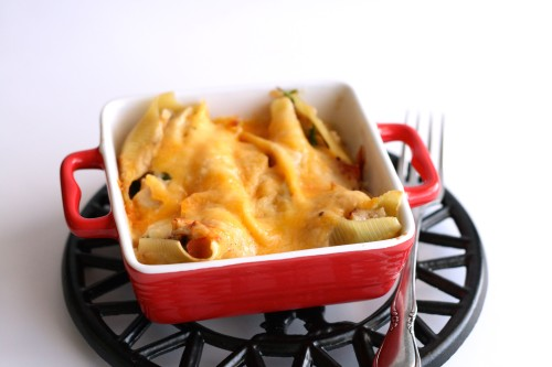 Turkey Stuffed Alfredo Shells
