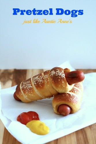 Pretzel Dogs just like Auntie Anne's