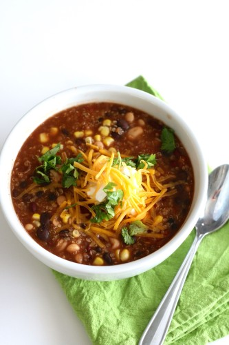 Quinoa Chili gluten free and vegetarian