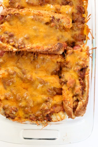 Baked Chili Cheese Dogs --Ready in 20 minutes!