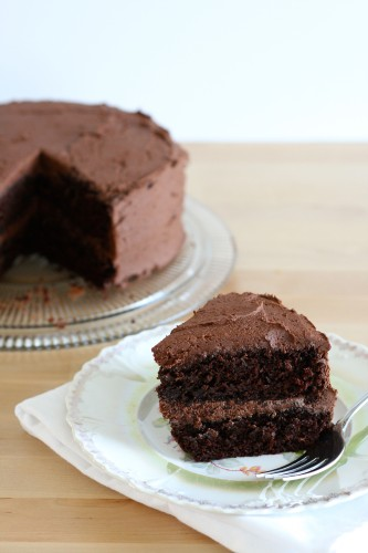 Chocolate Layer Cake with Whipped Chocolate Frosting