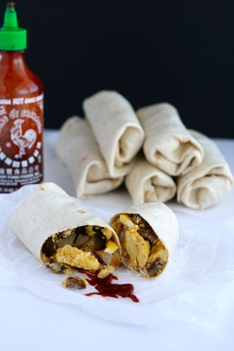 Breakfast Burritos make one to eat now and freeze the rest!