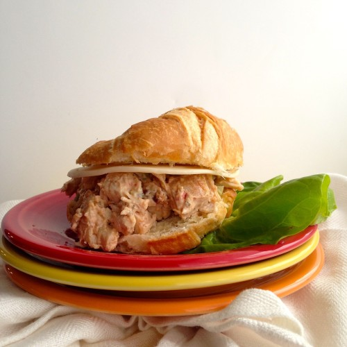Sun Dried Tomato Chicken Salad Sandwich -Homemade Paleo Mayo makes it the best!