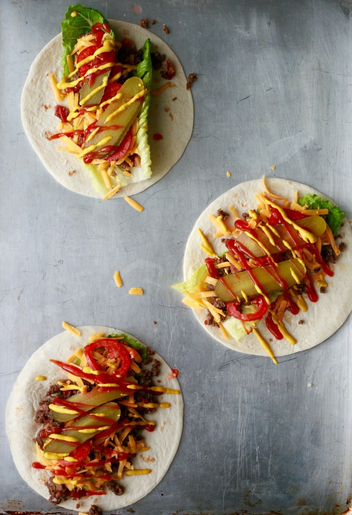 Cheeseburger Burrito Wraps