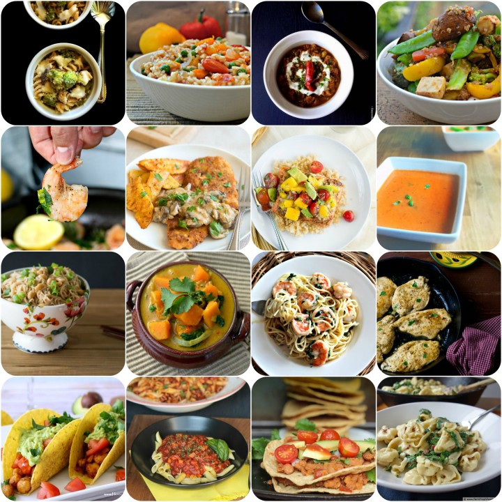 16 Dinners ready in less than 30 minutes