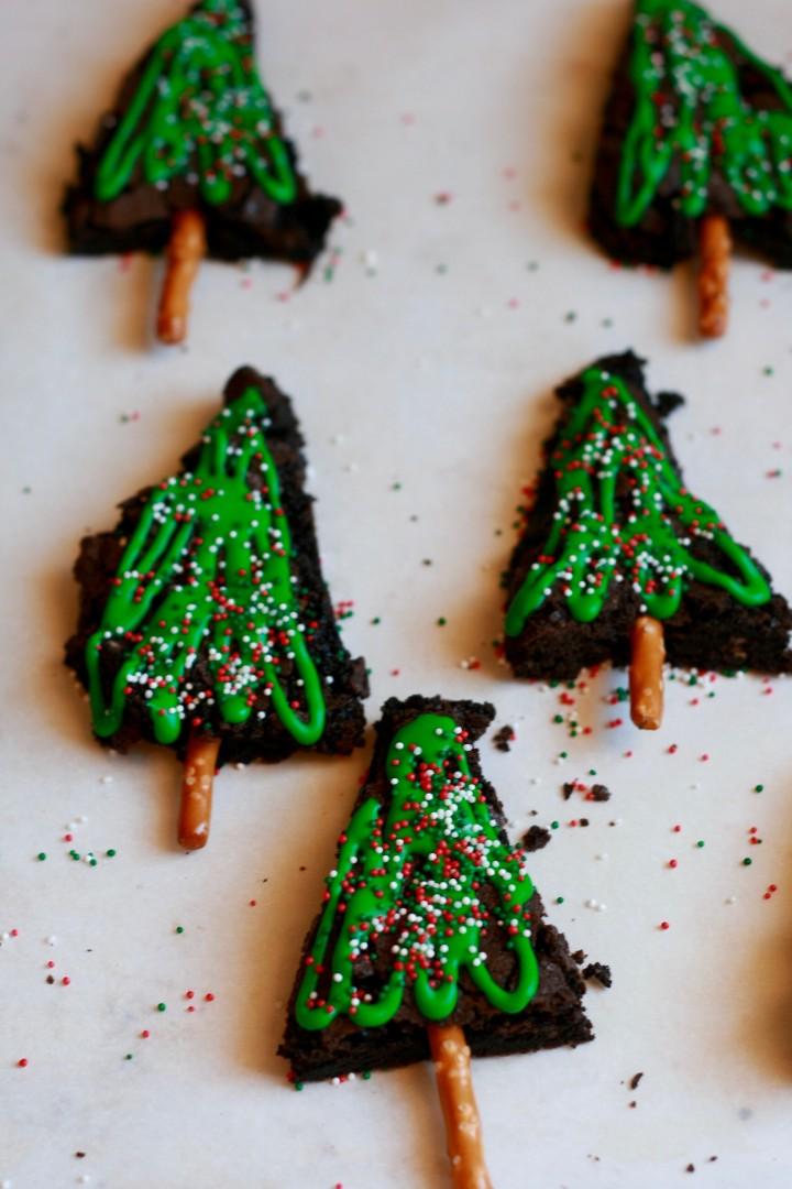 Gluten Free Brownies --Christmas Trees
