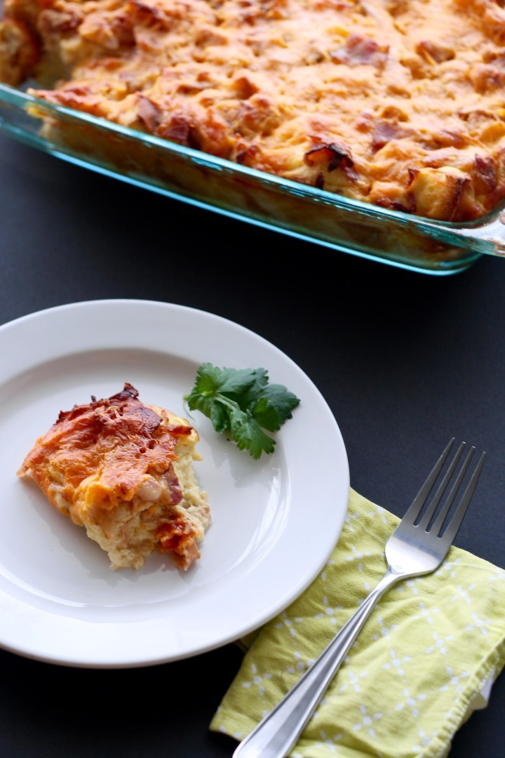 Bacon and Cheese Egg Bake