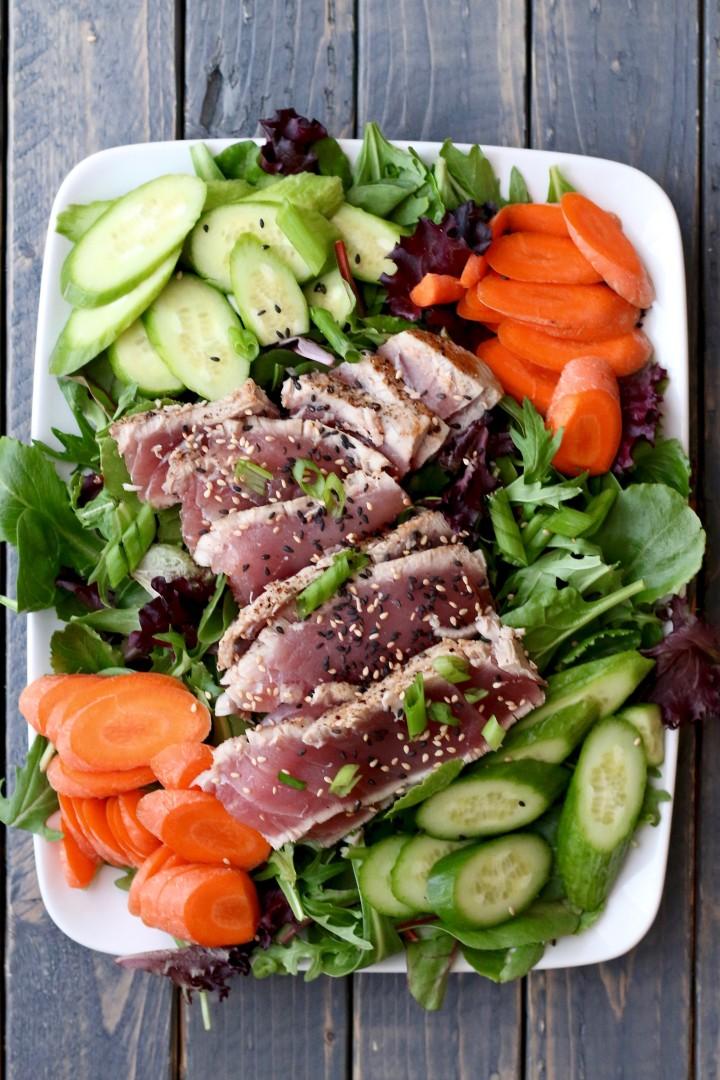Ahi Tuna Salad -Whole30 Compliant