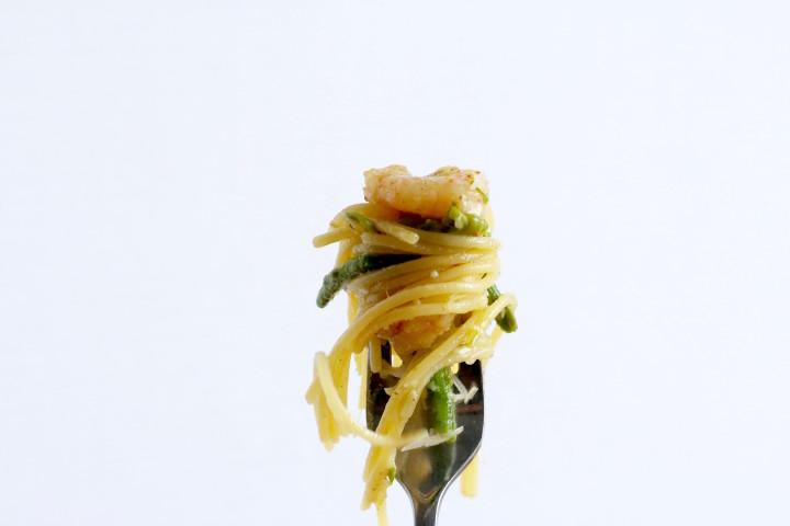 Browned Butter Shrimp Primavera