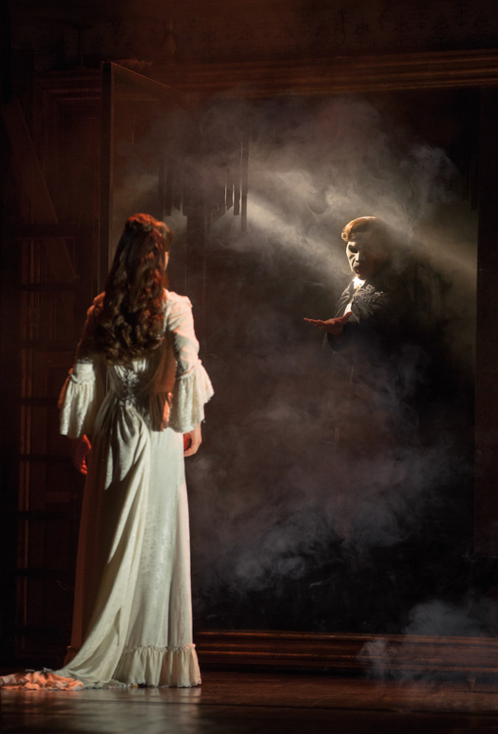 THE PHANTOM OF THE OPERA 6 - Katie Travis and Chris Mann - photo Matthew Murphy