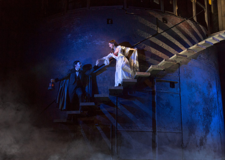 THE PHANTOM OF THE OPERA 7 - Chris Mann and Katie Travis - photo Matthew Murphy copy