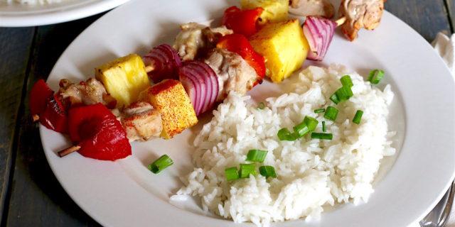 Pina Colada Chicken Coconut Rice