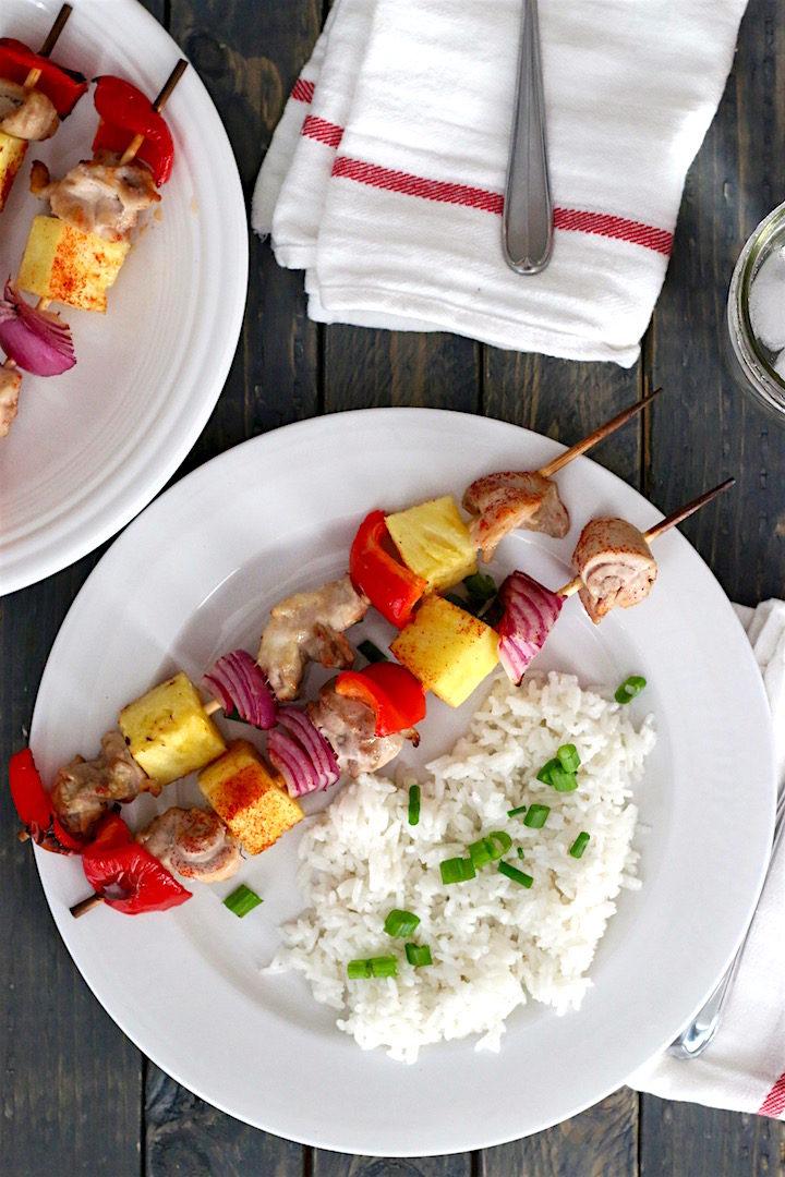 Pina Colada Chicken Kebob