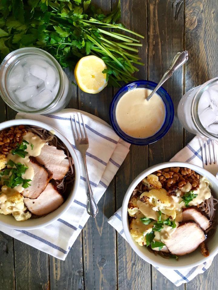 Pork Soba Noodle Bowl