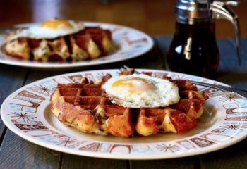 cornbread sausage waffles
