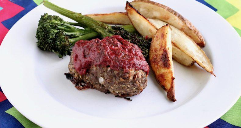 Sheet Pan Mini Meatloaf Roasted Potato Dinner