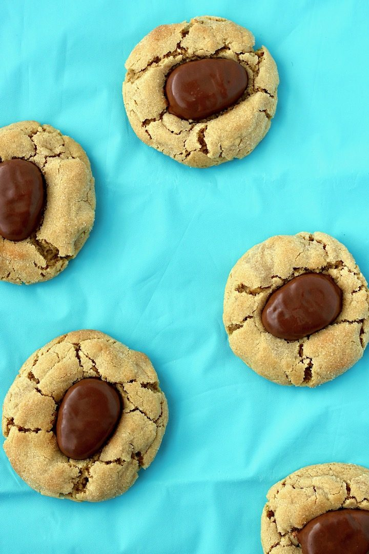 Easter Peanut Butter Blossoms