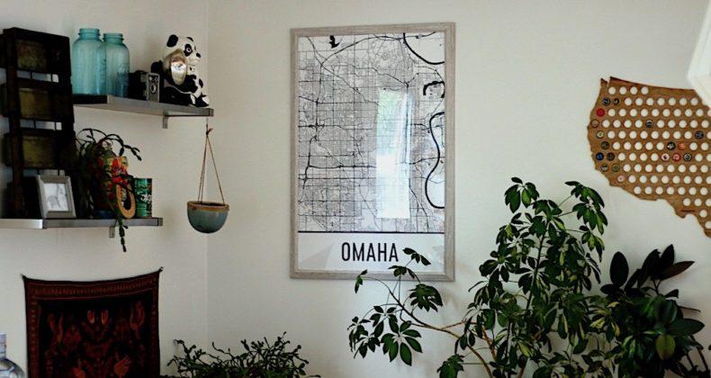 Man Cave Store Omaha : Omaha map art home decor
