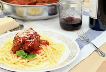 Mozzarella Stuffed Jumbo Meatballs
