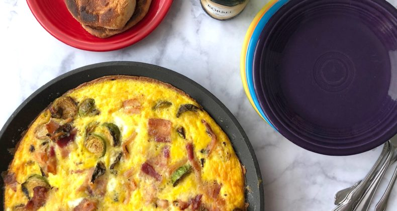 Brussels Sprouts Bacon Frittata